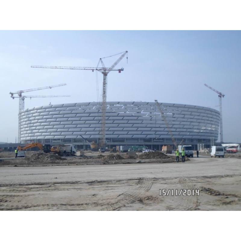 BAKU OLIYMPIC STADIUM ETFE ROOF AND FACADE CLADDING SUBFRAMES (2014)